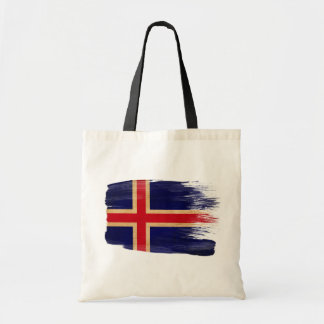Bolsos de la lona de la bandera de Islandia Bolsas De Mano