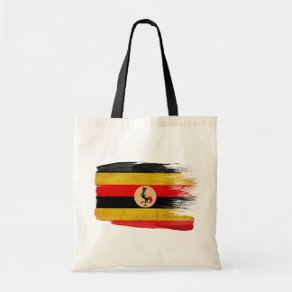 Bolsos de la lona de la bandera de Uganda Bolsas De Mano
