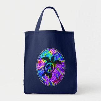 Bolsos de la oscuridad de la tortuga de la paz bolsa tela para la compra