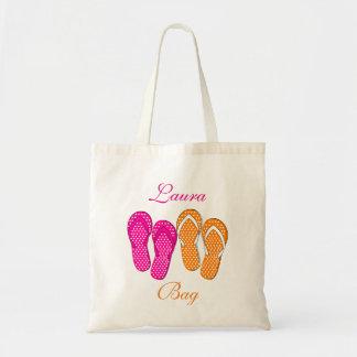 Bolsos de la playa del flip-flop bolsa tela barata