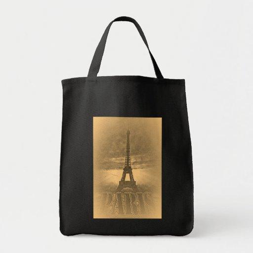 Bolsos de París #1 de la torre Eiffel del vintage Bolsa Tela Para La Compra