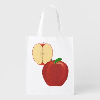 Bolsos de ultramarinos enteros cortados de Apple d Bolsas Reutilizables