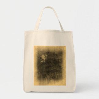 Bolsos del arte del vintage del oso negro bolsa tela para la compra