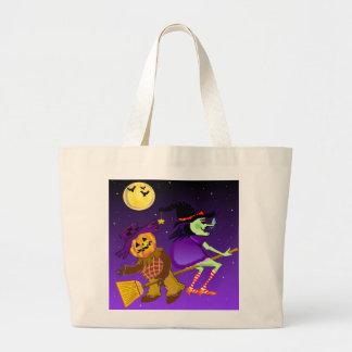 Bolsos del caramelo de la bruja bolsa tela grande