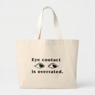 Bolsos del contacto visual bolsa tela grande