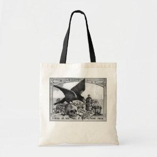 bolsos del cuervo y del cráneo bolsa de mano