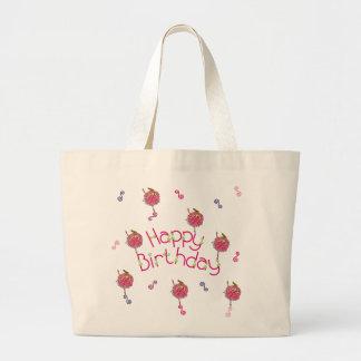 Bolsos del cumpleaños de la bailarina del copo de bolsa lienzo