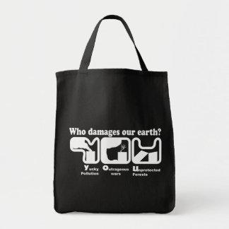 bolsos del Día de la Tierra Bolsas Lienzo
