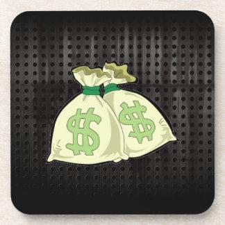 Bolsos del dinero; Rugoso Posavasos