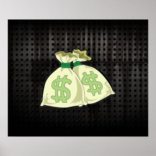 Bolsos del dinero; Rugoso Poster