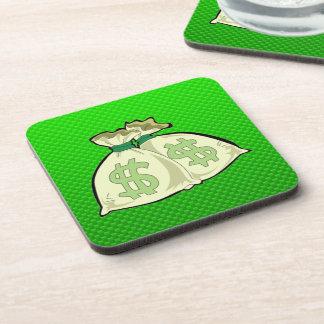 Bolsos del dinero; Verde Posavasos De Bebida
