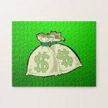 Bolsos del dinero; Verde Rompecabezas Con Fotos