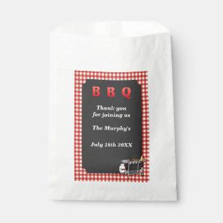Bolsos del favor de la barbacoa del patio trasero bolsa de papel