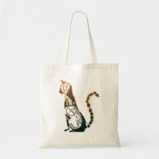 Bolsos del gato de Steampunk Bolsa Tela Barata