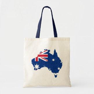 Bolsos del mapa de la bandera de Australia Bolsa Tela Barata