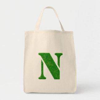 Bolsos del monograma de la plantilla de la hierba bolsa tela para la compra