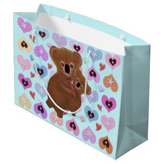 Bolsos del regalo de los corazones de la koala bolsa de regalo grande