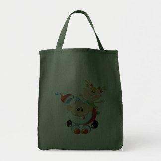 Bolsos del regalo de vacaciones - reutilizables bolsa lienzo