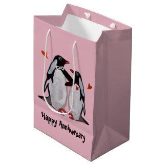 Bolsos del regalo del aniversario del amor del bolsa de regalo mediana