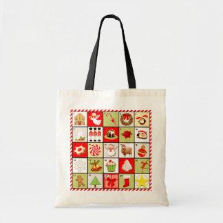 Bolsos del regalo del navidad bolsa tela barata