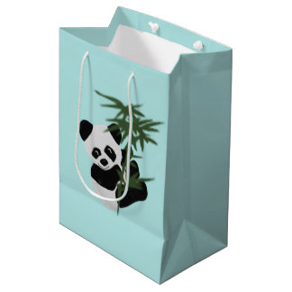 Bolsos del regalo del pequeño panda bolsa de regalo mediana