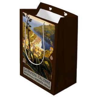 Bolsos del regalo del viaje del vintage de Riviera Bolsa De Regalo Mediana