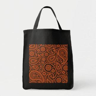 Bolsos florales anaranjados del modelo de Paisley Bolsa