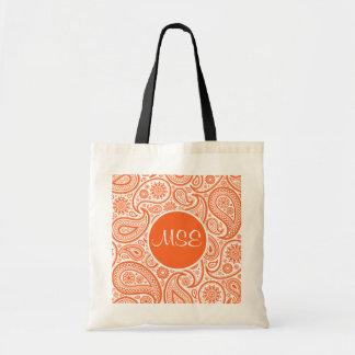 Bolsos florales anaranjados del modelo de Paisley Bolsas De Mano