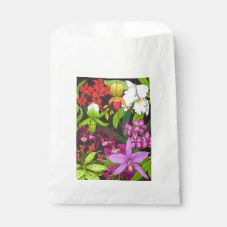 Bolsos florales del favor del jardín de la