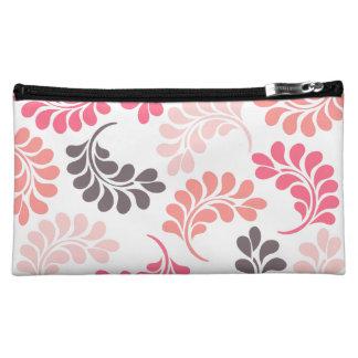 Bolsos florales rosados coralinos de Brown