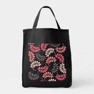 Bolsos florales rosados coralinos de Brown Bolsas