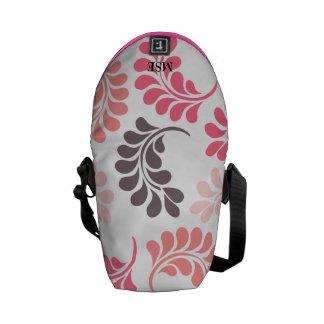 Bolsos florales rosados coralinos de Brown Bolsas De Mensajeria