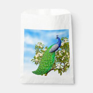 Bolsos indios azules exóticos del favor del pavo