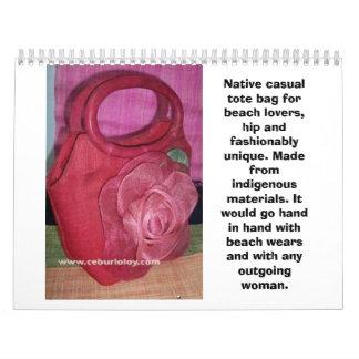 Bolsos nativos * bolsos nativos * bolsos casuales calendario