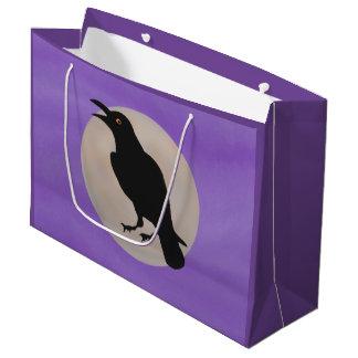 Bolsos negros del regalo de la luna del cuervo bolsa de regalo grande