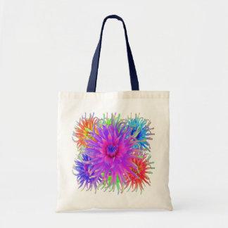 Bolsos pintados de la lona de las dalias bolsas de mano