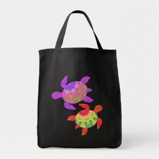 Bolsos pintados de la oscuridad de las tortugas bolsa de mano