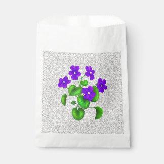 Bolsos púrpuras del favor de las violetas del