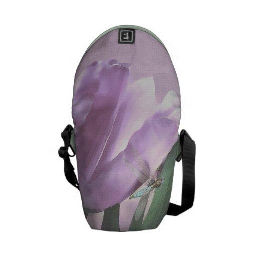 Bolsos púrpuras del viajero de la libélula de la a bolsas de mensajeria