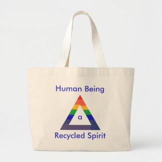 Bolsos reciclados de la lona del alcohol bolsa tela grande