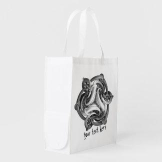 Bolsos reutilizables del ultramarinos de encargo bolsas para la compra