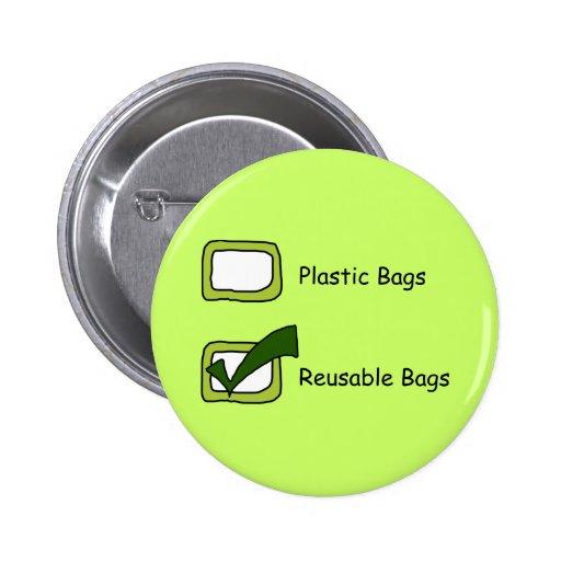 Bolsos reutilizables pin redondo 5 cm