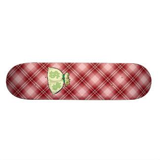 Bolsos rojos del dinero de la tela escocesa tabla de patinar