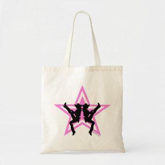 Bolsos rosados de las vaqueras de la estrella bolsas de mano