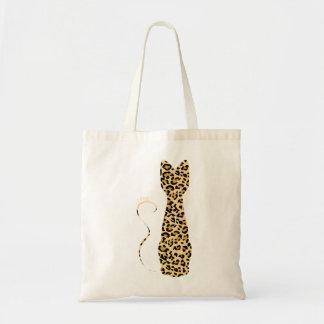 Bolsos salvajes del gato de una pintura del leopar bolsa