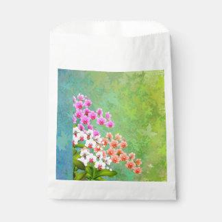 Bolsos tropicales del favor de las orquídeas del
