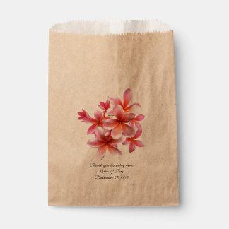 Bolsos tropicales florales rosados del regalo de bolsas de recuerdo