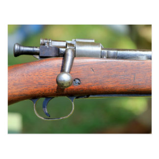 Bolt Action Rifle Trigger And Bolt Closeup Outside Postcard
