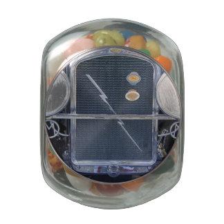 Bolt Glass Candy Jar