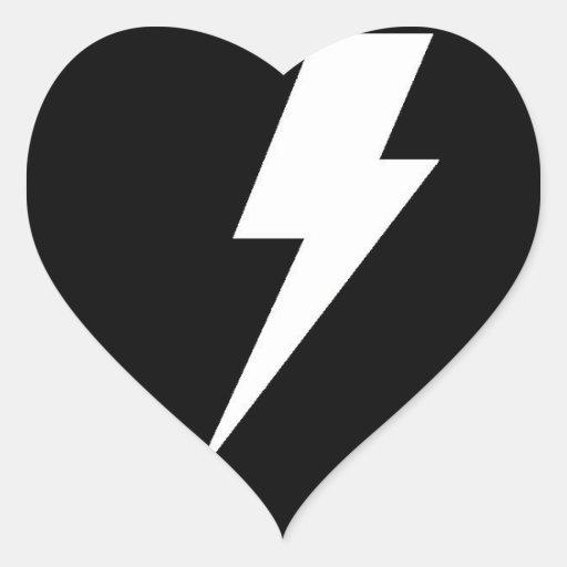 Bolt Heart Sticker